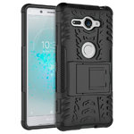 Dual Layer Rugged Shockproof Case for Sony Xperia XZ2 Compact - Black